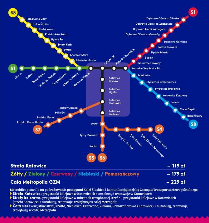 схема метробілет катовіце