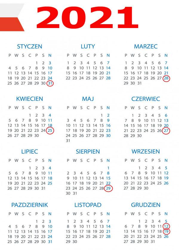 zakaz-handlu-2021 kalendarz